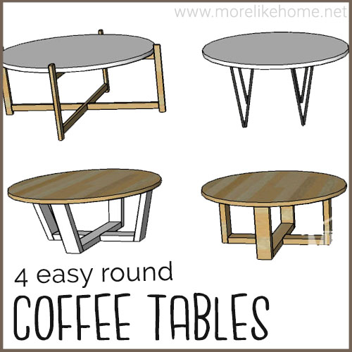 diy round coffee table building plans minimalist modern famrhouse rustic