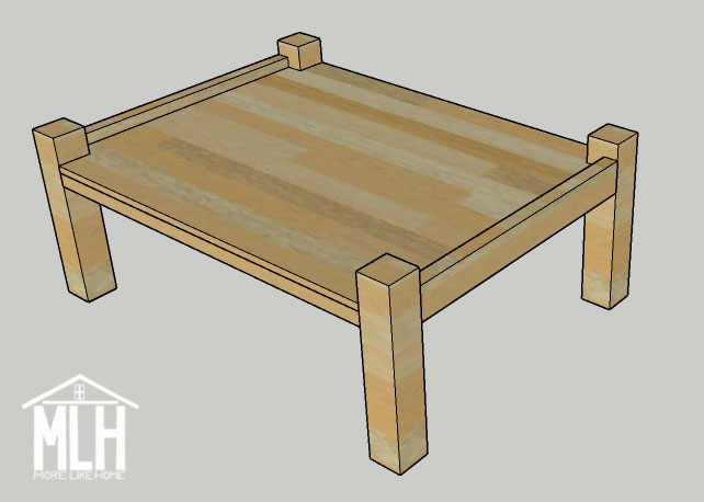 More Like Home Simple Four Poster Coffee Table Plans Day 1