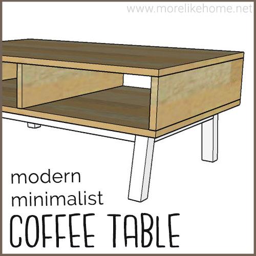 diy coffee table building plans minimalist modern plywood easy hairpin legs build