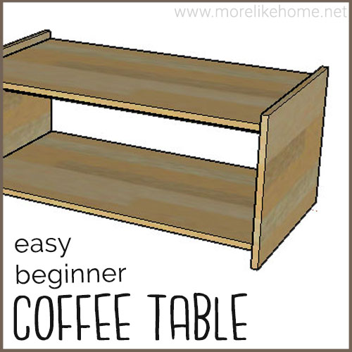 diy coffee table building plans minimalist plywood modern easy