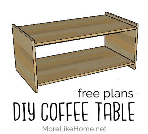More Like Home Diy Simple Minimalist Coffee Table Day 14