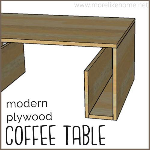 diy coffee table building plans plywood minimalist modern easy