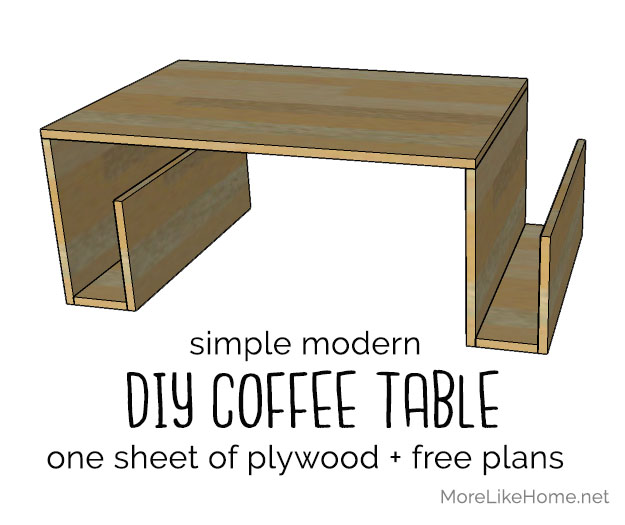 Fantastic More Like Home Modern Plywood Coffee Table Day 15 Machost Co Dining Chair Design Ideas Machostcouk