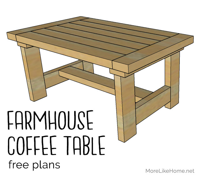 Super More Like Home 2X4 Farmhouse Coffee Table Day 16 Beutiful Home Inspiration Xortanetmahrainfo