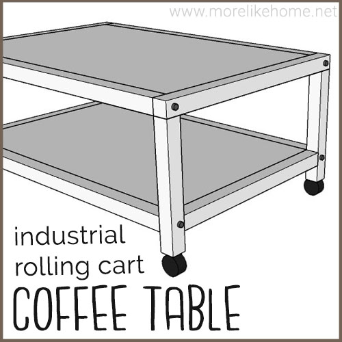 diy coffee table building plans industrial rolling cart