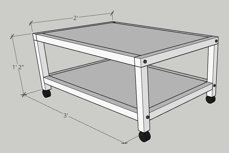 More Like Home: DIY Rolling Cart Coffee Table (Day 17)