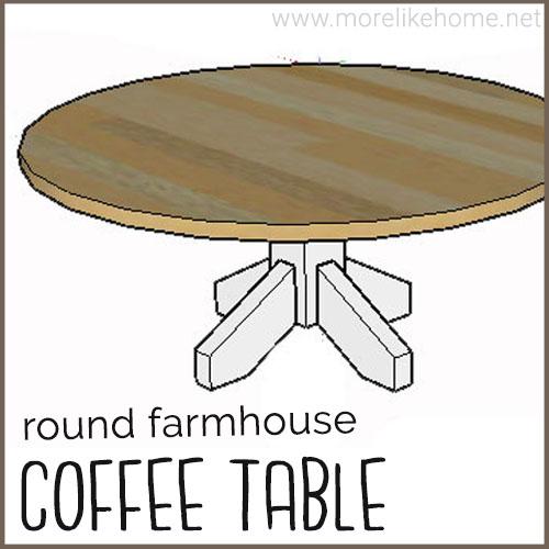diy coffee table building plans round farmhouse classic