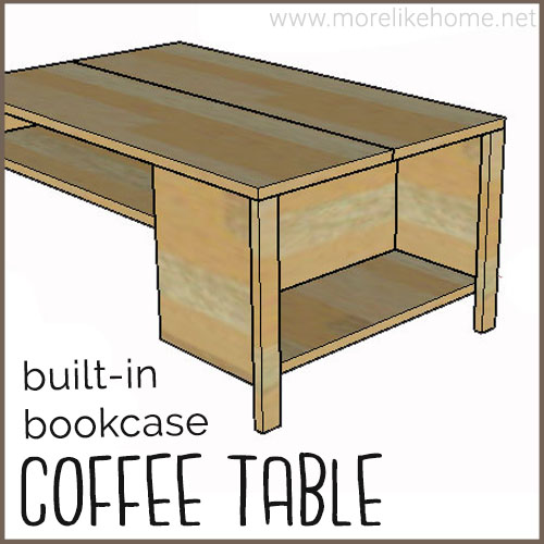 diy coffee table building plans minimalist built in bookshelf
