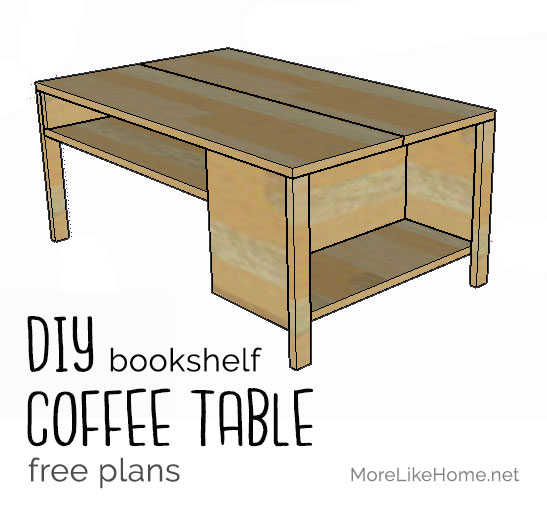 More Like Home Built In Bookshelf Coffee Table Day 5
