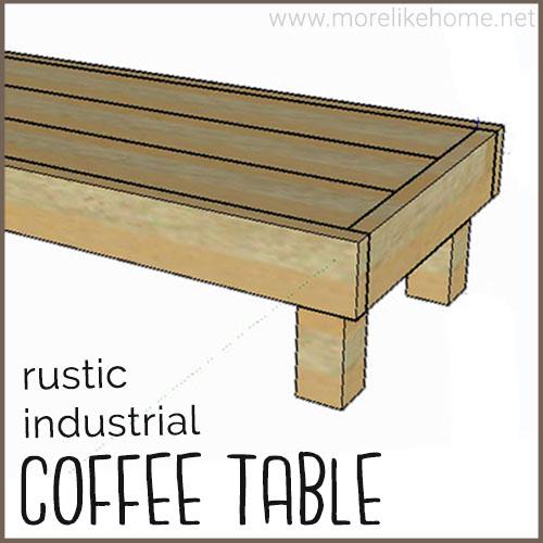 diy coffee table building plans easy industrial farmhouse