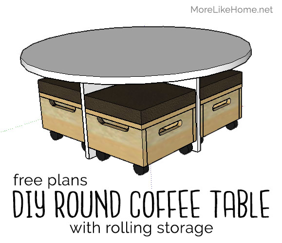 More Like Home Round Coffee Table With Nesting Ottomans Day 9