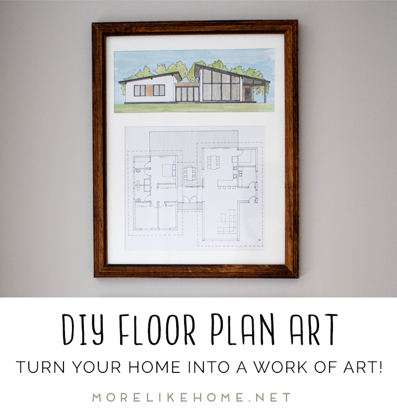 More Like Home Diy Floor Plan Art And How To Find Unique Art That You Love