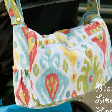 stroller diaper bag convertible messenger diy free pattern tutorial
