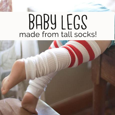 diy easy baby legs legwarmers tutorial