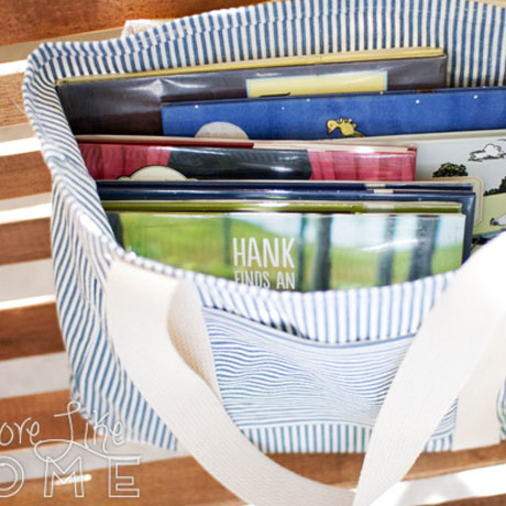 diy slipcover library bag ikea pattern tutorial