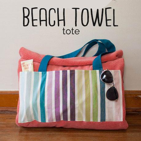 beach towel tote diy tutorial pattern