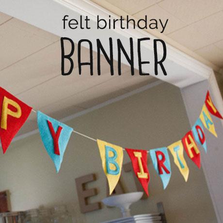 diy felt birthday banner kids
