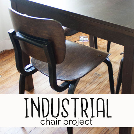 industrial chair makeover spray paint tutorial diy