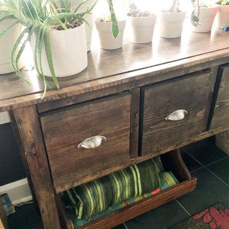 console table building plans diy