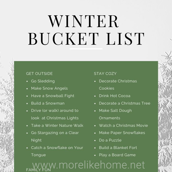 free printable winter bucket list family friendly