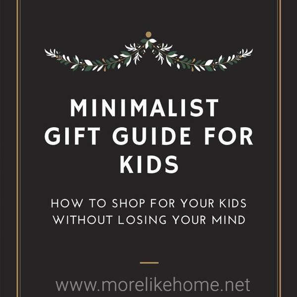 minimal kids gift guide shopping list