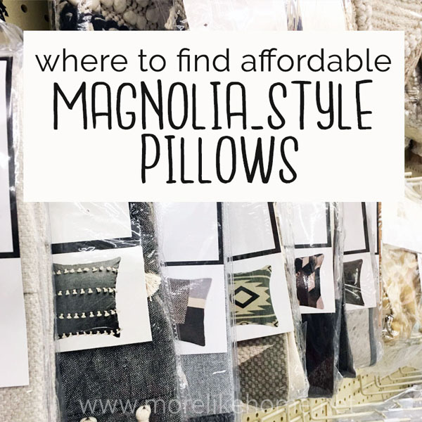 cheap affordable magnolia style pillows