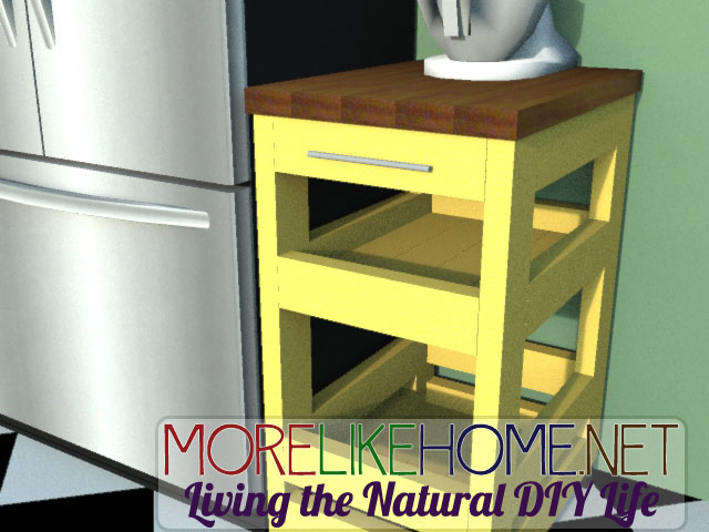 More Like Home Day 3 Build A Kitchen Cart With 2x4s