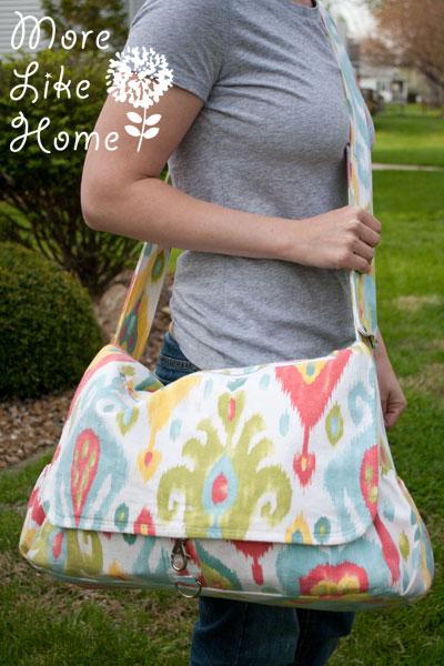 22fe963edcc3 More Like Home  Stroller Friendly Diaper Bag  free pattern   tutorial