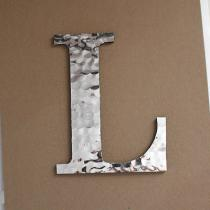 Faux Hammered Metal Letters