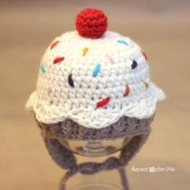 Crochet Cupcake Hat Pattern