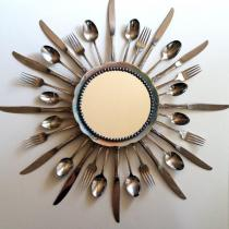 Silverware Starburst Mirror