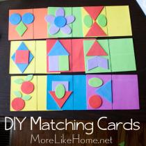 Shape Matching Cards Busy Bag