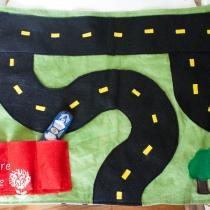 Roll-up Travel Car Play Mat