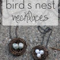 Wire Bird's Nest Necklace
