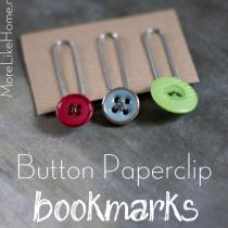 Button Paperclip Bookmarks