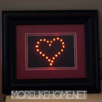 LED Framed Heart