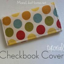 Easy Checkbook Cover Tutorial