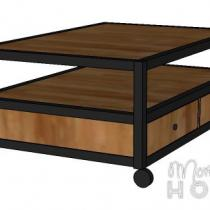 Bryan Industrial Coffee Table