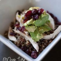 Quinoa, Chicken, Avocado & Cranberry Bowl