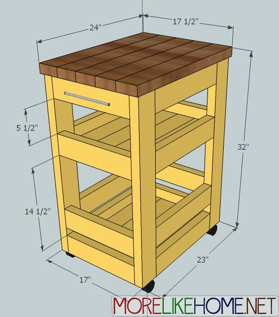 Projects 2x4 Kitchen Cart