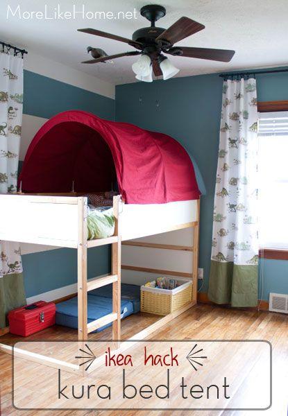 More Like Home Ikea Hack Kura Bed Tent Makeover