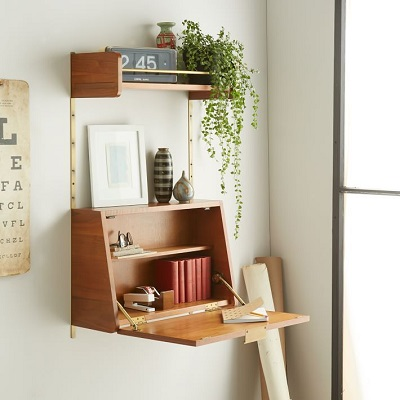 Diy Desk Series 9 Fold Down Wall, How To Build A Wall Mounted Fold Up Desk Ikea