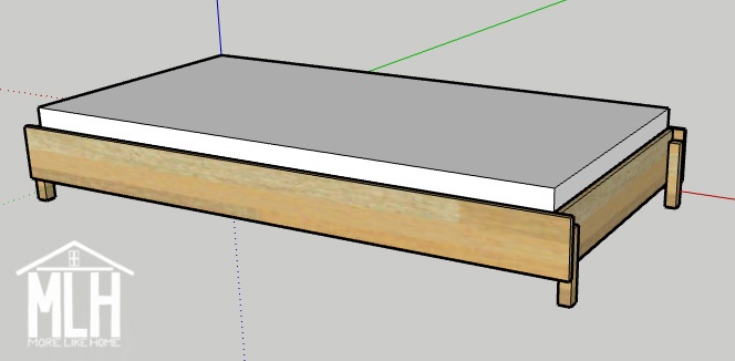 The Stack A Bed Converts From Twin To, How To Build A Simple Twin Bed