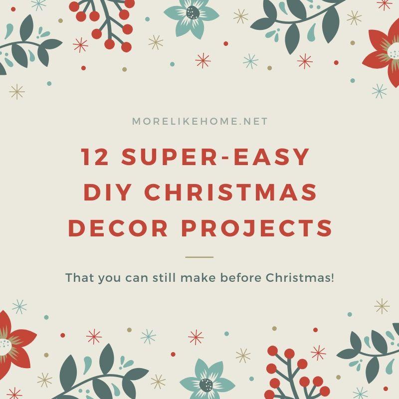 easy diy handmade christmas decor decorations ornaments tree skirt