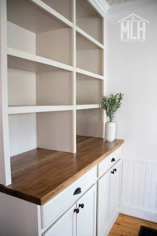 More Like Home How To Turn Stock Cabinets Into Diy Built In S