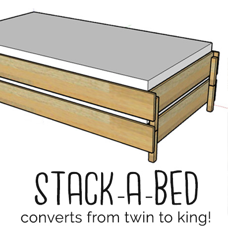 diy stackable bed converts twin to king