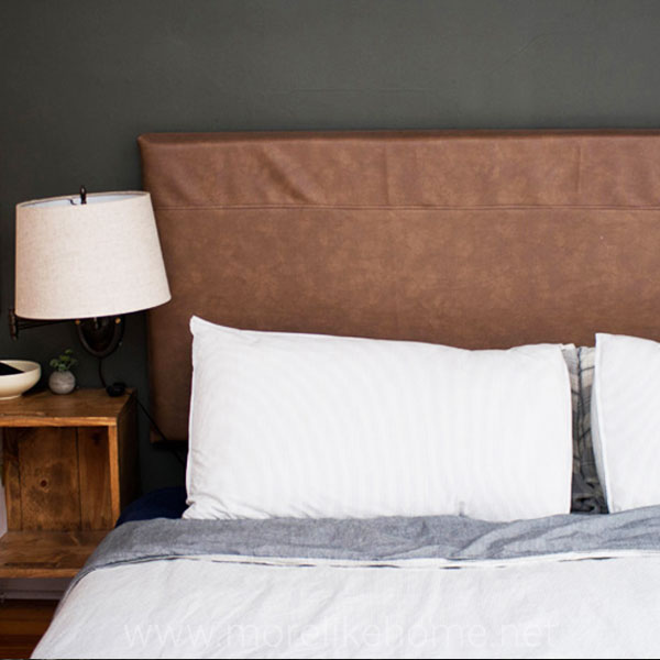 building plans easiest diy upholstered headboard faux leather