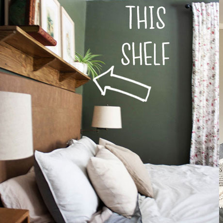 building plans easy diy headboard shelf quick bedroom projec