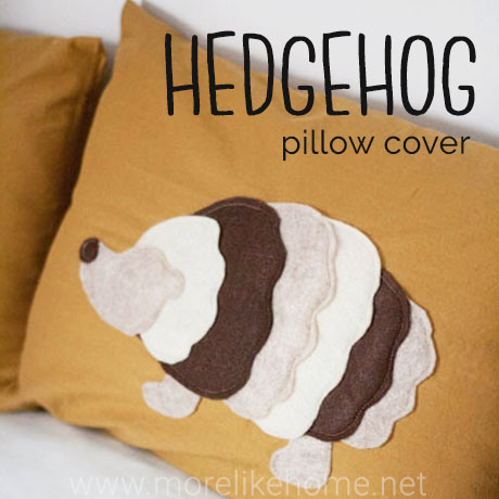 hedgehog pillow
