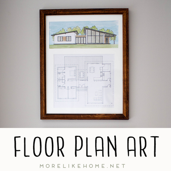 diy watercolor floor plan home art